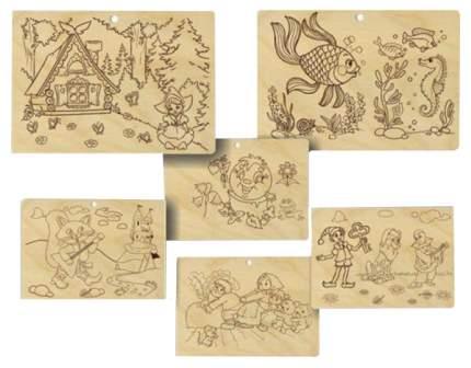 Набор для выжигания Пелси Теплые картинки Сказки НР027 3 картинки
