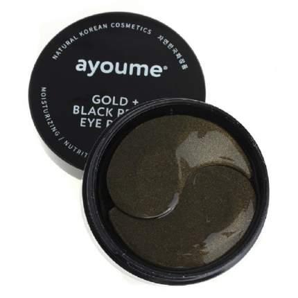 Патчи для глаз Ayoume с золотом и черным жемчугом