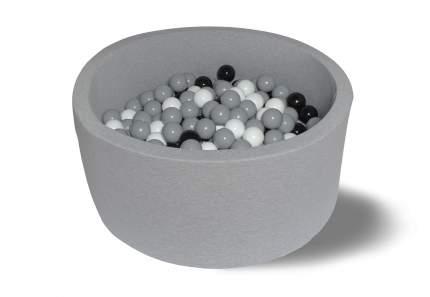Сухой игровой бассейн 200 оттенков серого 40см с 200 шарами: серый, белый, черный