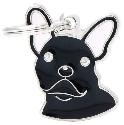 Подвеска для собак My Family Французский бульдог черная