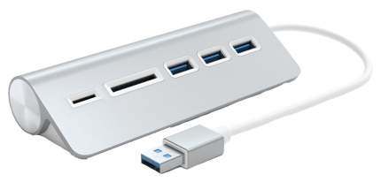 Разветвитель для компьютера Satechi Aluminum USB 3.0 Hub & Card Reader ST-3HCRS