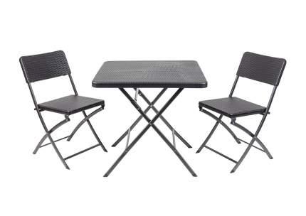 Набор складной мебели GoGarden NAPOLI, садовый, 78х78х74см, пластик/сталь