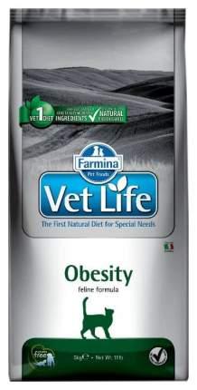 Сухой корм для кошек Farmina Vet Life Obesity, для снижения лишнего веса, курица, 5кг