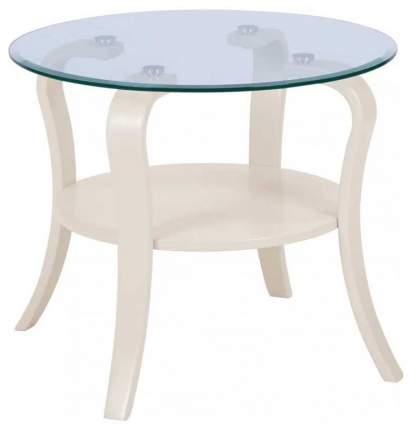 Журнальный столик Мебелик Аннет 402 60х60х50 см, бежевый