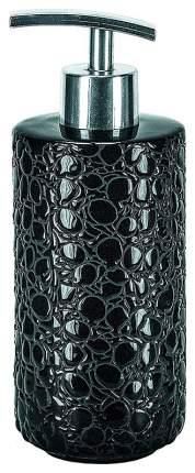 Емкость для жидкого мыла Kleine Wolke Doublе Kroko Black Черный