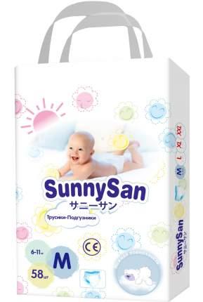 Подгузники-трусики SunnySan M 6-11 кг 58 шт.