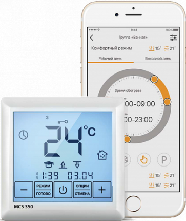 Терморегулятор Теплолюкс MCS 350 с Wi-Fi