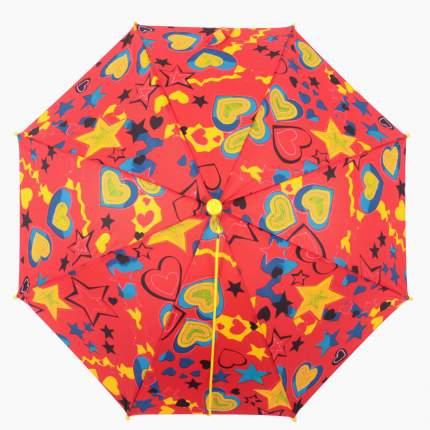 Зонт-трость полуавтомат Zemsa 75052-1 красный
