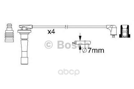 Провода высоковольтные комплект Bosch 0986357150