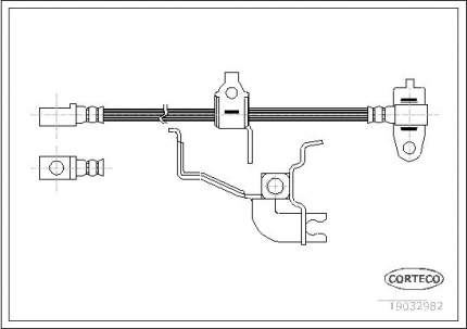 Шланг тормозной CORTECO 19032982