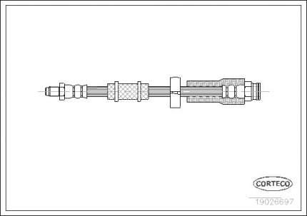 Шланг тормозной CORTECO 19026697