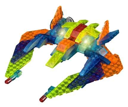 Конструктор пластиковый Crystaland светящийся 3 в 1 Космический корабль 99 деталей