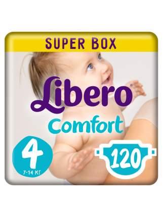 Подгузники Libero Comfort Size 4 (7-14кг), 120 шт.