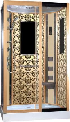 Душевая кабина Niagara Lux NG-7711GR 120x90x215, золото с узором
