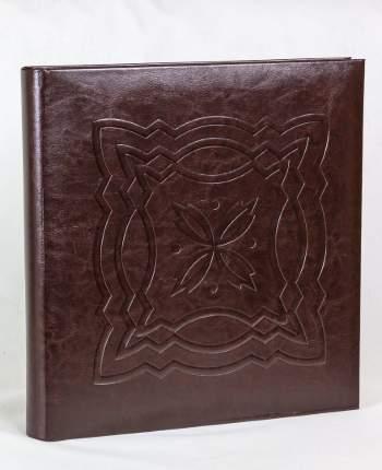"""Фотоальбом """"Тиснение"""" обложка коричневая эко-кожа, 60 магнитных страниц 31х32 см"""