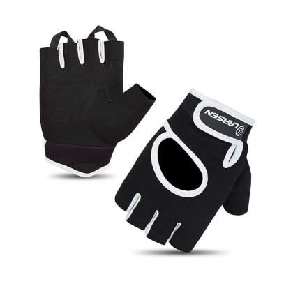 Перчатки для фитнеса Larsen 16-8344 черно-серые XL