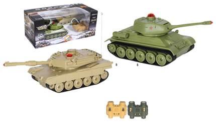 Радиоуправляемый танковый бой Zegan M1A2 PK - Russia T-34