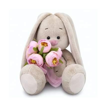 Мягкая игрушка BUDI BASA Зайка Ми с букетом роз, 18 см