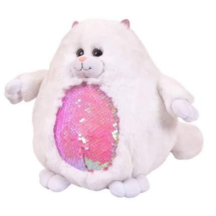ABtoys Мягкая игрушка Кошка с пайетками, 20 см