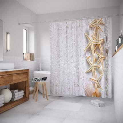 Штора для ванной JoyArty «Свежесть моря» 180x200