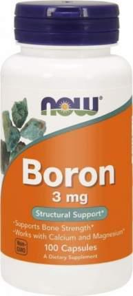 NOW Foods Boron 3 мг 100cap (100 капс.)