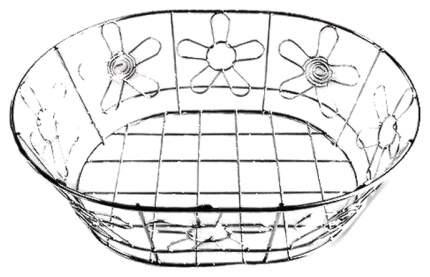 Корзина Для Фруктов Мультидом «Цветок» Хром An52-77