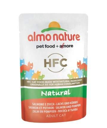 Влажный корм для кошек Almo Nature HFC Natural, лосось и тыква, 24шт по 55г
