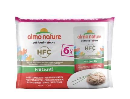 Влажный корм для кошек Almo Nature HFC Natural, морепродукты, курица, 6шт, 55г