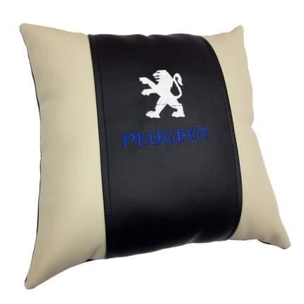 Декоративная подушка из экокожи с логотипом PEUGEOT