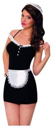 Платье горничной SoftLine Jane с фартуком и кружевной повязкой на голову S-M