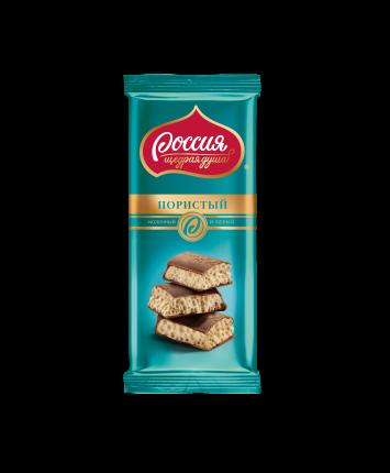 Шоколад молочный и белый пористый Россия - щедрая душа 82 г