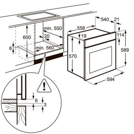 Встраиваемый электрический духовой шкаф Zanussi OPZB4210B Black