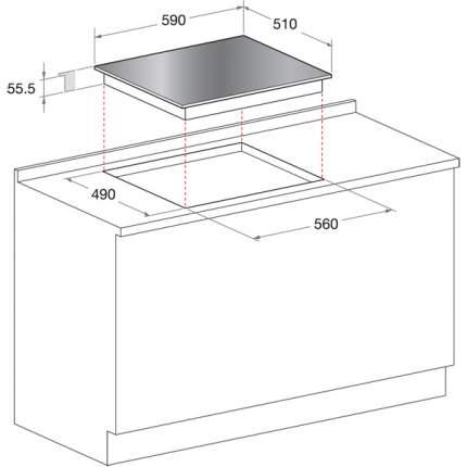 Встраиваемая варочная панель индукционная Hotpoint-Ariston KIC 644 C (CF) Brown