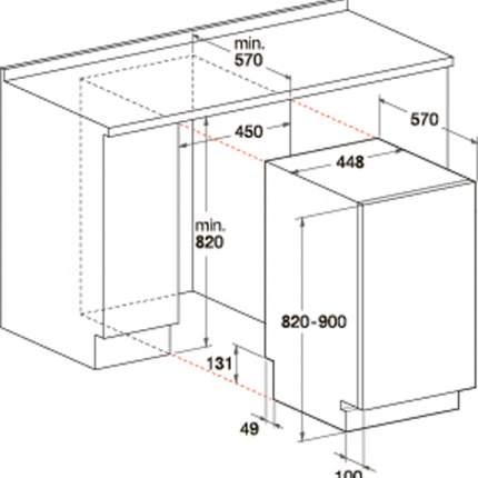 Встраиваемая посудомоечная машина 60 см Hotpoint-Ariston LTF 11M116 EU