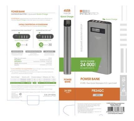 Внешний аккумулятор InterStep PB24QC 24000 мА/ч (IS-AK-PB24QCM4U-000B201) Grey