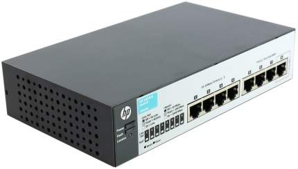 Коммутатор HP OfficeConnect 1810 1810-8 J9800A Серый, черный