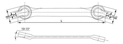 Ключ разрезной THORVIK FNW1012