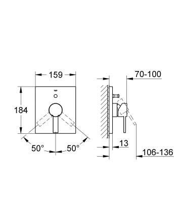 Смеситель для встраиваемой системы Grohe Allure 19315000 хром