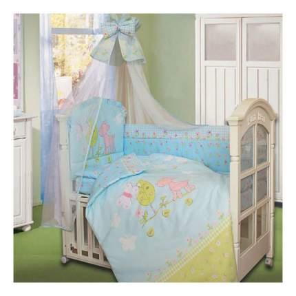 Комплект детского постельного белья Золотой Гусь 1262 голубой