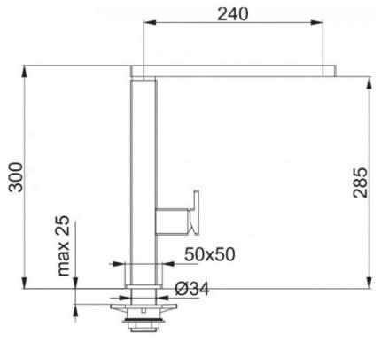 Смеситель для кухонной мойки Franke CENTINOX 115.0177.872 хром