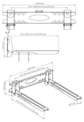 Подвес для микроволновой печи KROMAX MICRO-5 Серебристый