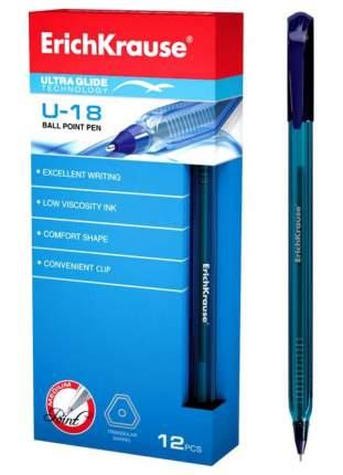 Ручка шариковая Erich Krause Ultra Glide Technology U-18, 1 мм синяя (упаковка 12 шт)