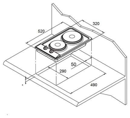 Встраиваемая варочная панель электрическая MAUNFELD MEHE.32.62B Black