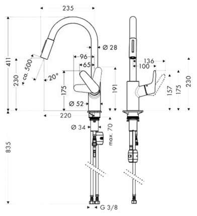 Смеситель для кухонной мойки Hansgrohe Focus 31815000 хром