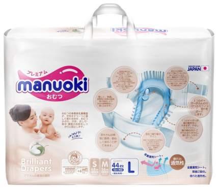 Детские подгузники Бриллиантовая серия L (+12 кг) 44 шт,, Manuoki