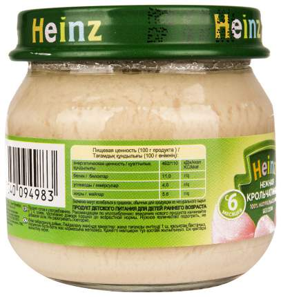 Пюре мясное Heinz Нежная крольчатинка с 6 месяцев 80 г
