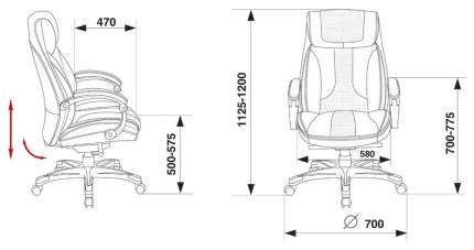 Кресло руководителя Бюрократ T-9921/BROWN, коричневый/золото