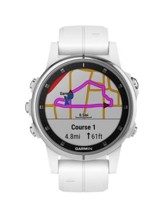 Смарт-часы Garmin Fenix 5S Plus Sapphire белые