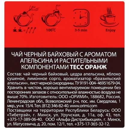 Чай черный Tess orange листовой фруктовый 100 г