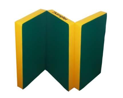 Детский спортивный мат Kampfer №6 (150 x 100 x 10 см) зелено-желтый
